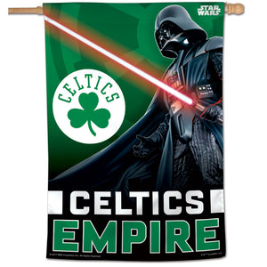 "Boston Celtics Star Wars Darth Vader Vertical Flag 28""x40"""