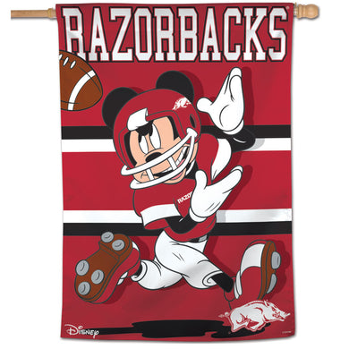 Arkansas Razorbacks Mickey Mouse Vertical Flag 28