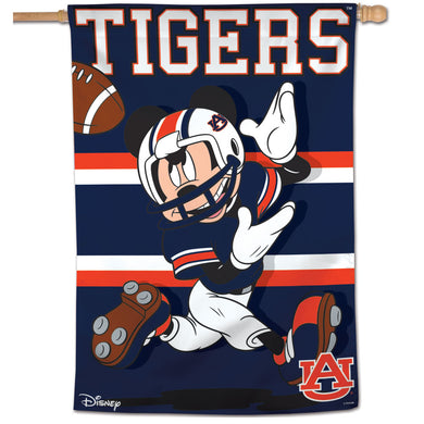 Auburn Tigers Mickey Mouse Vertical Flag 28