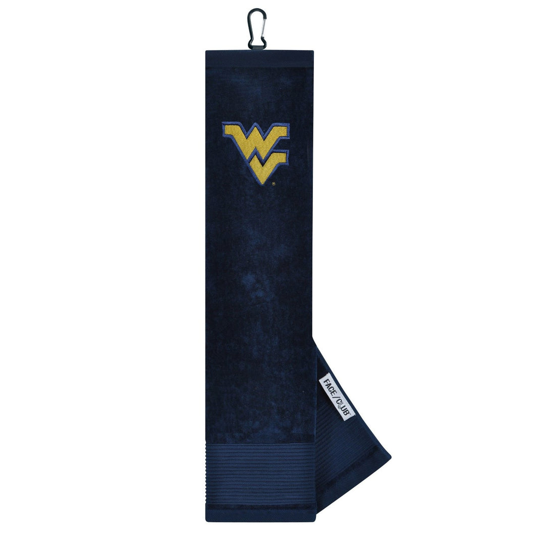 West Virginia Mountaineers Golf Face/Club Embroidered Towel