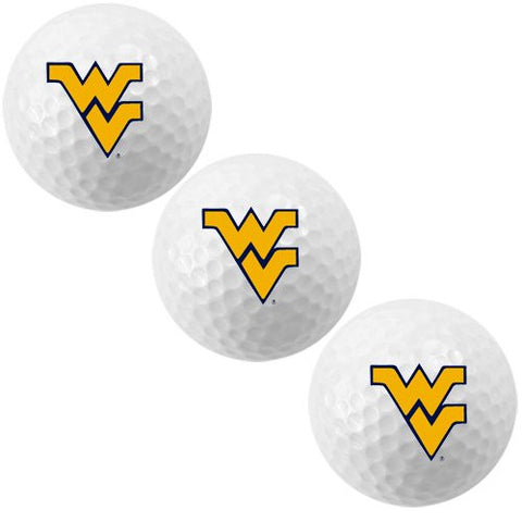 West Virginia Mountaineers Golf Ball 3 Pack