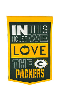 "Green Bay Packers Home Banner - 15""x24"""