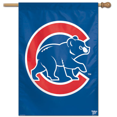 Chicago Cubs Retro Vertical Flag