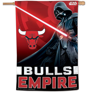 "Chicago Bulls Star Wars Darth Vader Vertical Flag 28""x40"""
