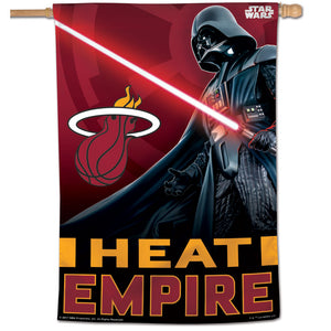 "Miami Heat Star Wars Darth Vader Vertical Flag 28""x40"""