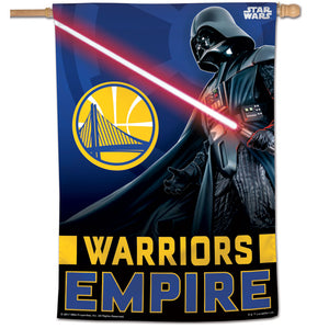 "Golden State Warriors Star Wars Darth Vader Vertical Flag 28""x40"""