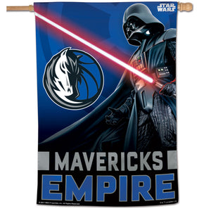 "Dallas Mavericks Star Wars Darth Vader Vertical Flag 28""x40"""