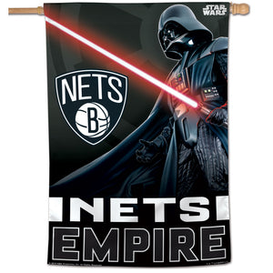 "Brooklyn Nets Star Wars Darth Vader Vertical Flag 28""x40"""