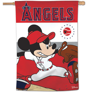 "Los Angeles Angels Mickey Mouse Vertical Flag - 28""x40"""