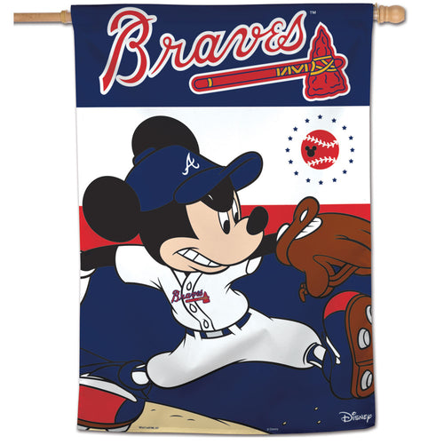 Atlanta Braves Mickey Mouse Vertical Flag - 28