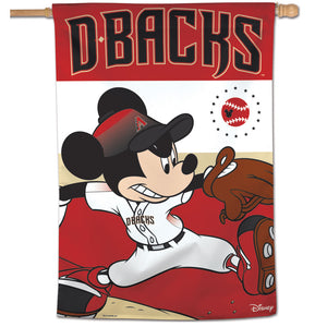 "Arizona Diamondbacks Mickey Mouse Vertical Flag - 28""x40"""