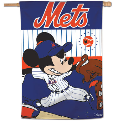 New York Mets Mickey Mouse Vertical Flag - 28
