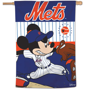 "New York Mets Mickey Mouse Vertical Flag - 28""x40"""