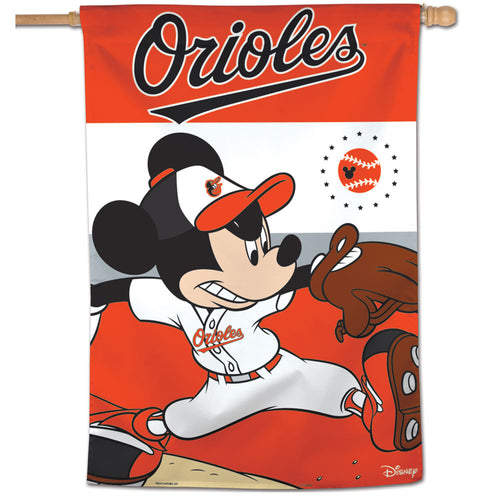 Baltimore Orioles Mickey Mouse Vertical Flag - 28