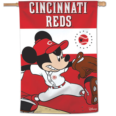 Cincinnati Reds Mickey Mouse Vertical Flag - 28