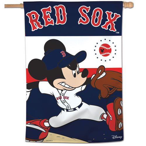 Boston Red Sox Mickey Mouse Vertical Flag - 28