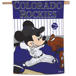 "Colorado Rockies Mickey Mouse Vertical Flag - 28""x40"""