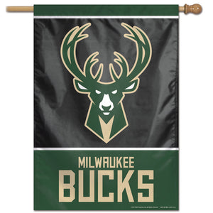 "Milwaukee Bucks Vertical Flag 28""x40"""