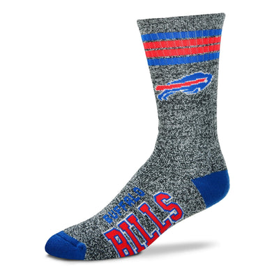 Buffalo Bills - Marbled 4 Stripe Deuce Socks