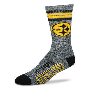 Pittsburgh Steelers - Marbled 4 Stripe Deuce Socks