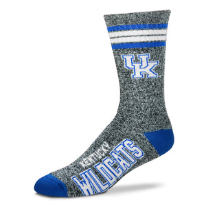 Kentucky Wildcats - Marbled 4 Stripe Deuce Socks