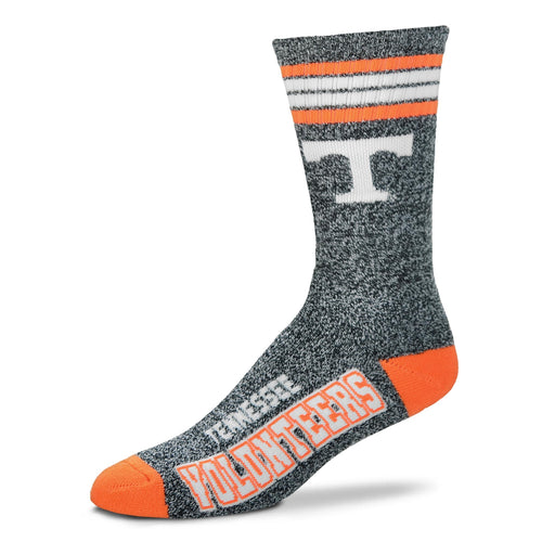 Tennessee Volunteers - Marbled 4 Stripe Deuce Socks