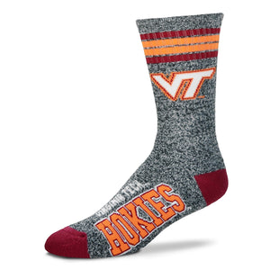 Virginia Tech Hokies - Marbled 4 Stripe Deuce Socks