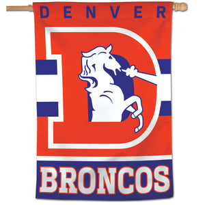 "Denver Broncos Retro Vertical Flag - 28""x40"""