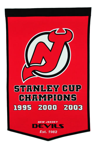 new jersey devils dynasty wool banner