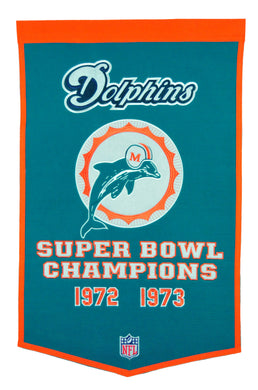 miami dolphins super bowl champions dynasty wool banner
