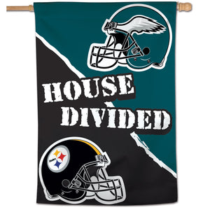 "Pittsburgh Steelers / Philadelphia Eagles House Divided Vertical Flag - 28""x40"""