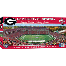 Georgia Bulldogs Football Panoramic Puzzle