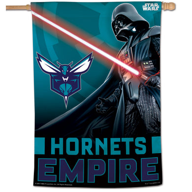 Charlotte Hornets Star Wars Darth Vader Vertical Flag 28