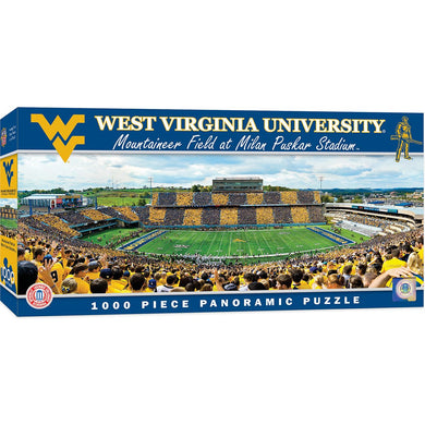 West Virginia Mountaineers Mountaineer Field Panoramic Puzzle