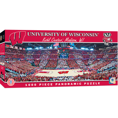 Wisconsin Badgers Basketball Panoramic Puzzle