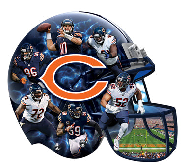 Chicago Bears Football Helmet Shaped Puzzle