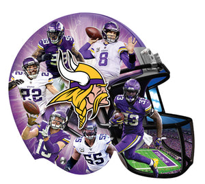 Minnesota Vikings Football Helmet Puzzle