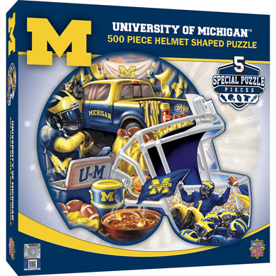 Michigan Wolverines Helmet Shaped Puzzle