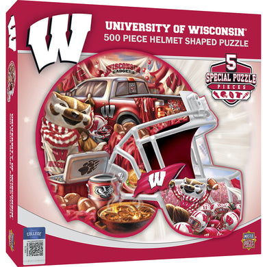 Wisconsin Badgers Helmet Puzzle