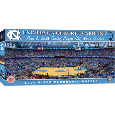 North Carolina Tar Heels Basketball Panoramic Puzzle