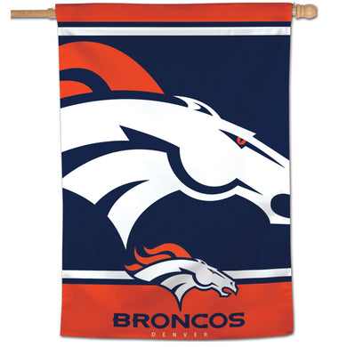 Denver Broncos Mega Logo Vertical Flag - 28