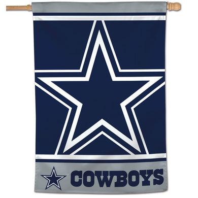 Dallas Cowboys Mega Logo Vertical Flag - 28