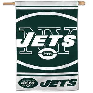 "New York Jets Mega Logo Vertical Flag - 28""x40"""