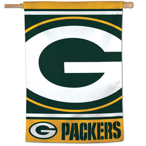 "Green Bay Packers Mega Logo Vertical Flag - 28""x40"""