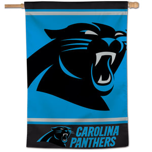 "Carolina Panthers Mega Logo  Vertical Flag - 28""x40"""