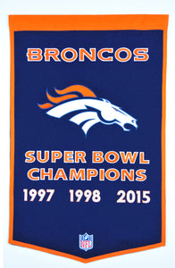 denver broncos super bowl champions dynasty wool banner