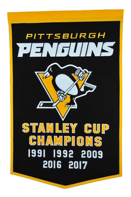pittsburgh penguins wool dynasty banner