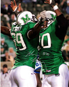 marshall football, mario harvey autograph