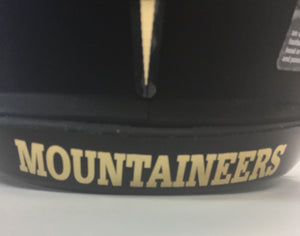 west virginia mountaineers blackout mini helmet