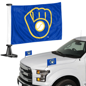 milwaukee brewers car flag